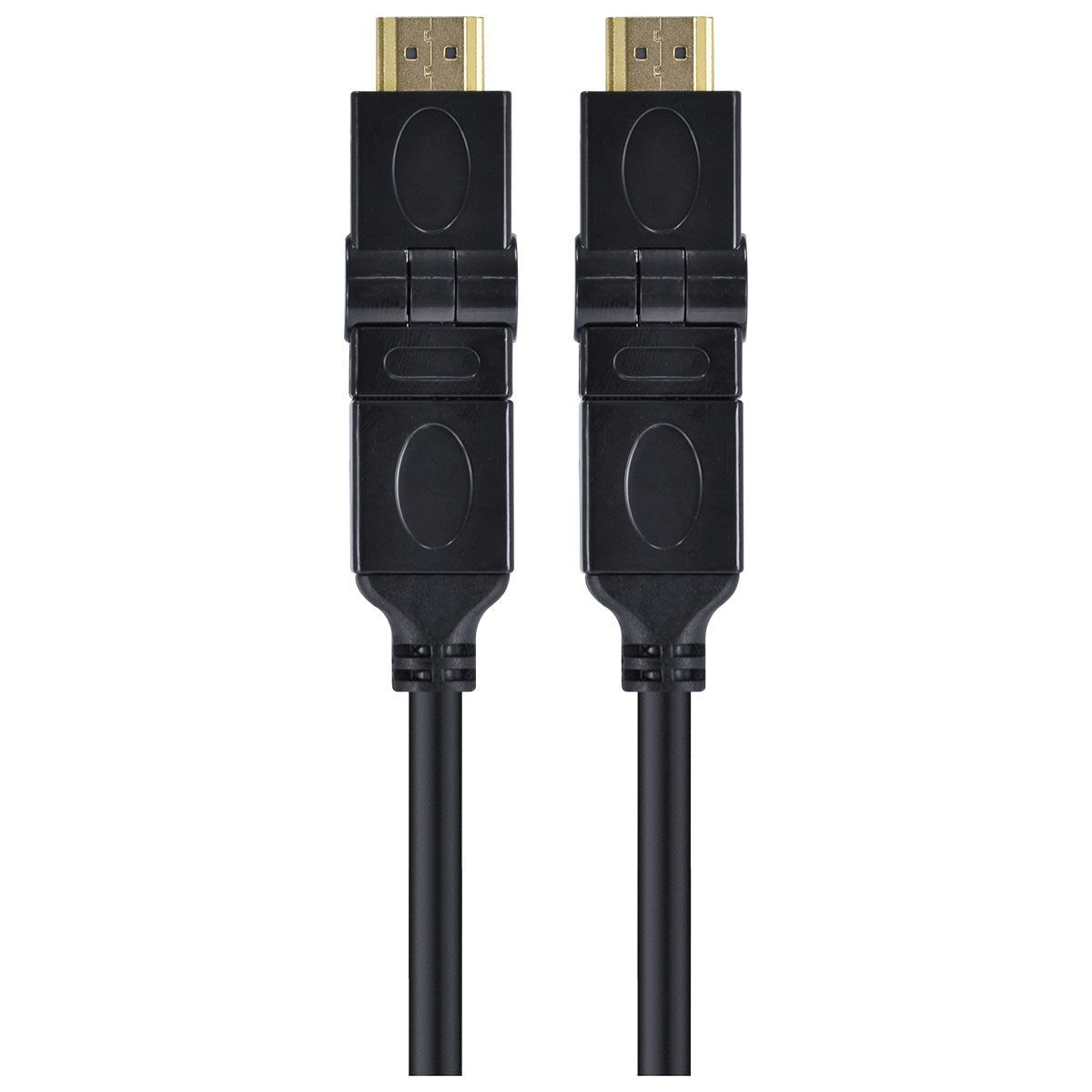 CABO HDMI 2.0 4K ULTRA HD 3D CONEXÃO ETHERNET CONECTORES 360° 2 METROS - H20B360-2  - skalla magazine