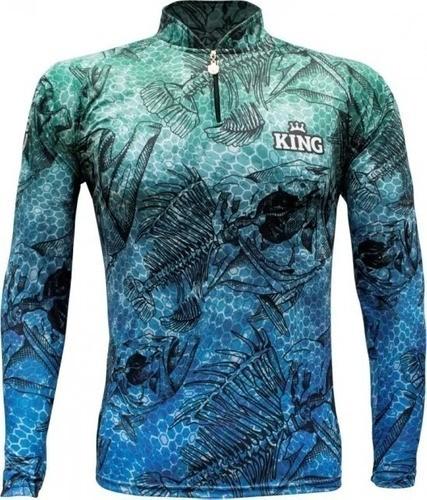 Camisa De Pesca Com Proteção Solar Uv 50+ Kff 633
