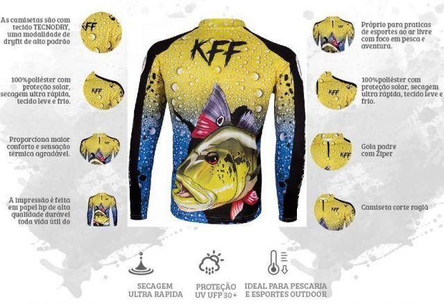Camisa de Pesca com Proteção Solar UV 50+ king Brasil  - skalla magazine