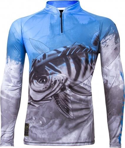 Camisa De Pesca Com Proteção Uv Kff 106 King Brasil