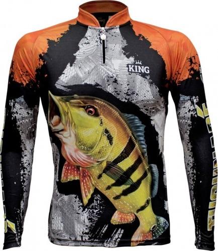 Camisa De Pesca Proteção Solar Uv Tucunaré