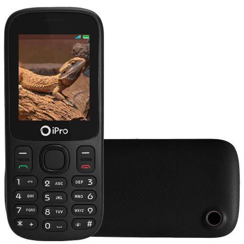 Celular Ipro I3200 Dual Chip Desbloqueado Preto - Conexão Bluetooth, Câmera Integrada, Radio Fm  - skalla magazine