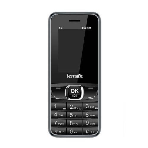 Celular Rural Lemon Sensi Mobile Dual Chip Preto - Conexão 2g, Bluetooth, Botão Sos  - skalla magazine