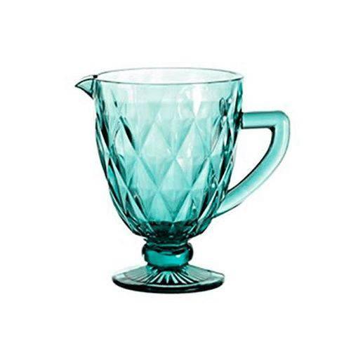 Jarra De 1 Litro De Vidro Azul Tiffany Diamond Lyor  - skalla magazine