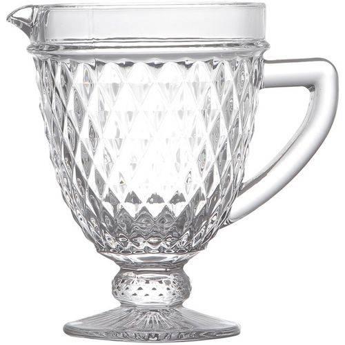 Jarra de Vidro Bico de Abacaxi 1 litro Transparente