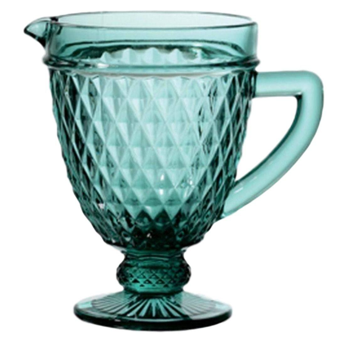 Jarra de Vidro Diamond Azul Tiffany 1 Litro Lyor