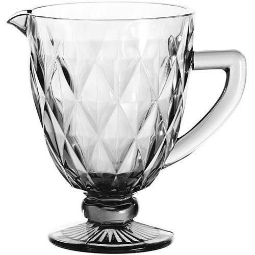 Jarra de Vidro Diamond Transparente 1 Litro e Jogo de 6 taças 260 ml Transparente  - skalla magazine
