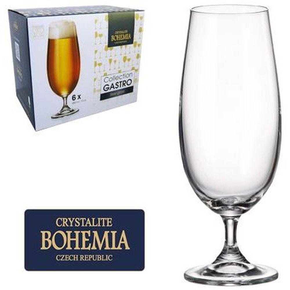 Jogo 6 Taça Cerveja Bohemia Cristal 380ml Titanium  - skalla magazine
