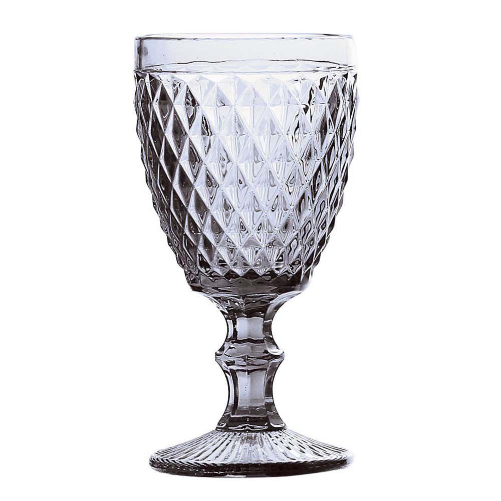 Jogo de 6 Taças para Água de Vidro Bico de Abacaxi Transparente 260 ML  - skalla magazine