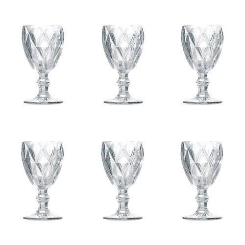 Jogo de 6 Taças para Água Transparente 260 ml  - skalla magazine