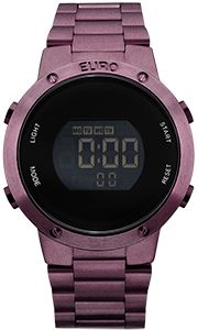 Relogio Euro Feminino Fashion Fit Eubj3279ad/4t Roxo Digital  - skalla magazine