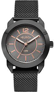 Relógio Feminino Euro EU2036YLU/4P - Preto  - skalla magazine