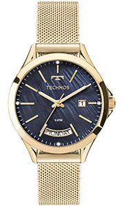 Relógio Feminio Technos 2350AF4A Dourado - skalla magazine a1c3b06a8d