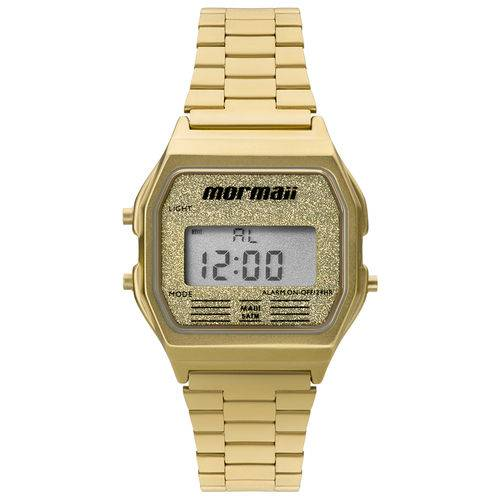 Relógio Mormaii Feminino Vintage MOJH02AD/4B Digital Dourado  - skalla magazine