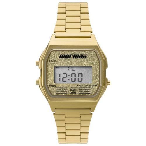 Relógio Mormaii Feminino Vintage MOJH02AD/4D Dourado Digital  - skalla magazine