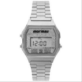Relógio Mormaii Feminino Vintage MOJH02AE/3B Digital Prata  - skalla magazine