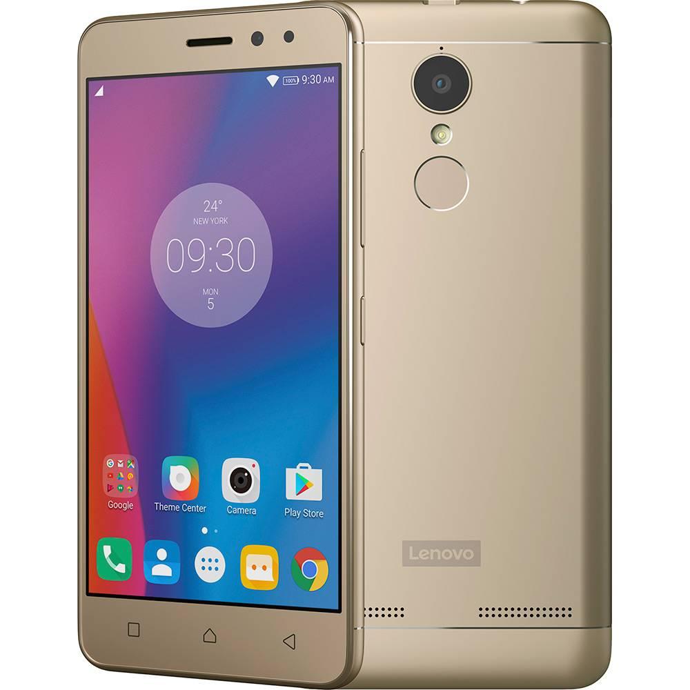 "Smartphone Lenovo Vibe K6 Dual CHIP Android Tela 5"" 32GB 4G Câmera 13MP - Dourado  - skalla magazine"