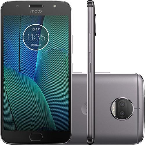 "Smartphone Motorola Moto G 5s Plus Dual Chip Android 7.1.1 Nougat Tela 5.5"" Snapdragon 625 32GB 4G 13MP Câmera Dupla - Platinum  - skalla magazine"