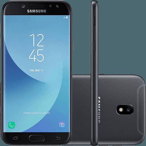 "Smartphone Samsung Galaxy J5 PRO Dual CHIP Android 7.0 Tela 5,2"" OCTA-CORE 1.6 GHZ 32GB 4G Câmera 13MP - Preto  - skalla magazine"