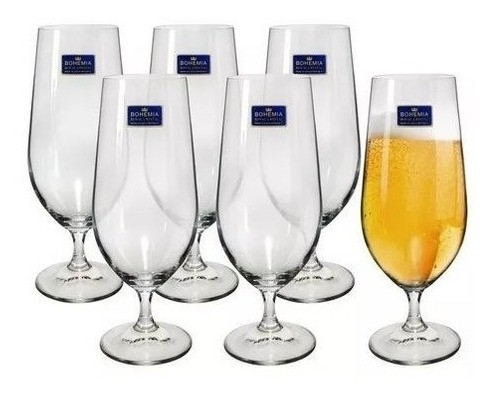 - Taças para cerveja bohemia de cristal kit com 6