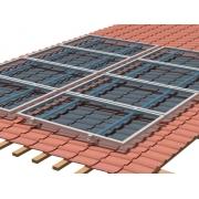 Estrutura de Fixação Para Placa Solar -  Para 4 Placas em Telha Cerâmica