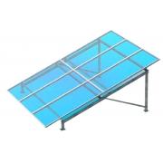 Kit de Fixação Para Placa Solar - Para 6 Placas em Solo - Biposte