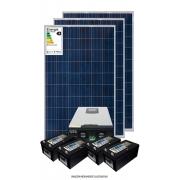 Kit solar 3600w/dia - Inversor Carregador Senoidal 2000w 24v/220v - PWM