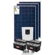 Kit solar 3600w/dia - Inversor Carregador Senoidal 2000w/3000W 24v/220v - PWM