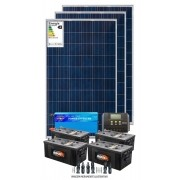 Kit solar 3600w/dia - Inversor Senoidal 1000w/2000w - PWM