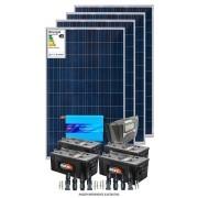Kit solar 4800w/dia - Inversor Senoidal 3000W 24V/110V + Fixação Laje