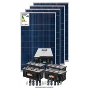 Kit solar 6000w/dia - Inversor Carregador Senoidal 2000W 24v/220v - PWM