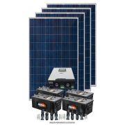 KIT SOLAR 6.200W/DIA - INVERSOR CARREGADOR SENOIDAL 5000W 48V/220V - MPPT + 2FIX SOLO
