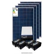 Kit solar 8.200w/dia - Inversor Carregador 3KW 24V/220V MPPT-H