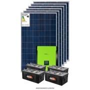 Kit solar 8.300w/dia - Inversor Carregador Senoidal 3000w 48v/220v