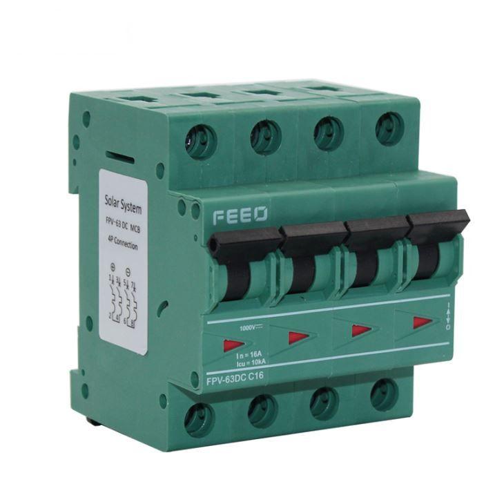 Disjuntor DC 16A/1000VDC 4P