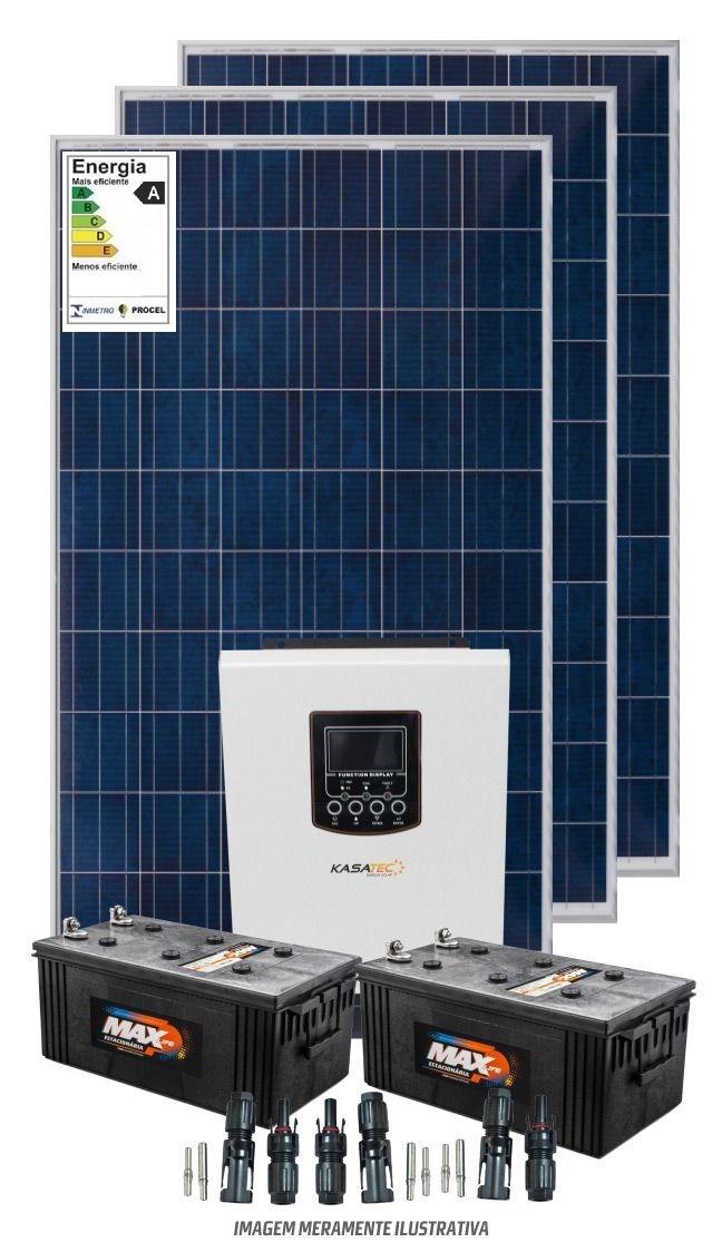 Kit 3600wdia - Bombeamento Solar 1/2 cv - Com Baterias