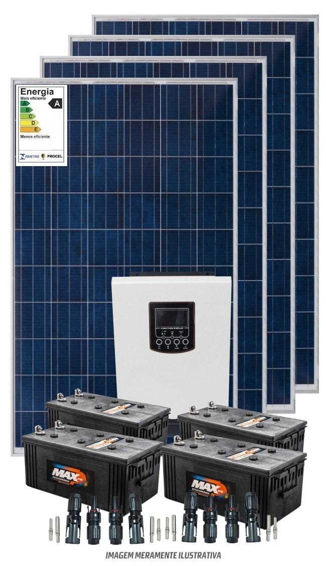 Kit 4800wdia - Inversor Carregador 3000w PWM + Bombeamento Solar 1/2 cv - Com Baterias