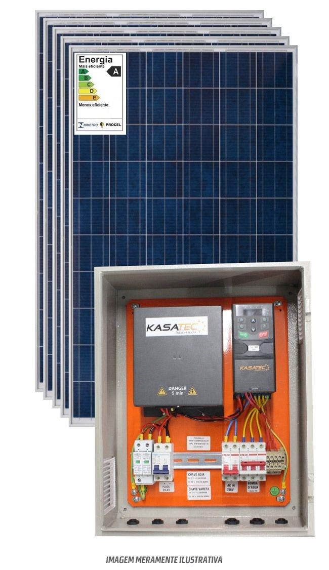 Kit bombeamento solar 1cv trifasico 380v