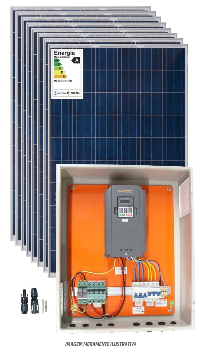 Kit bombeamento solar 7,5cv trifasico 220V