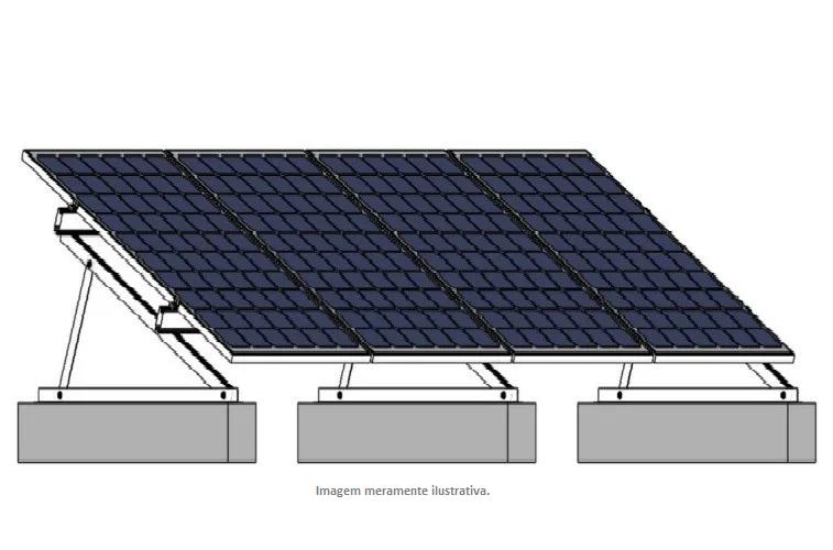Kit de Fixação Para Placa Solar - Para 4 Placas em Laje