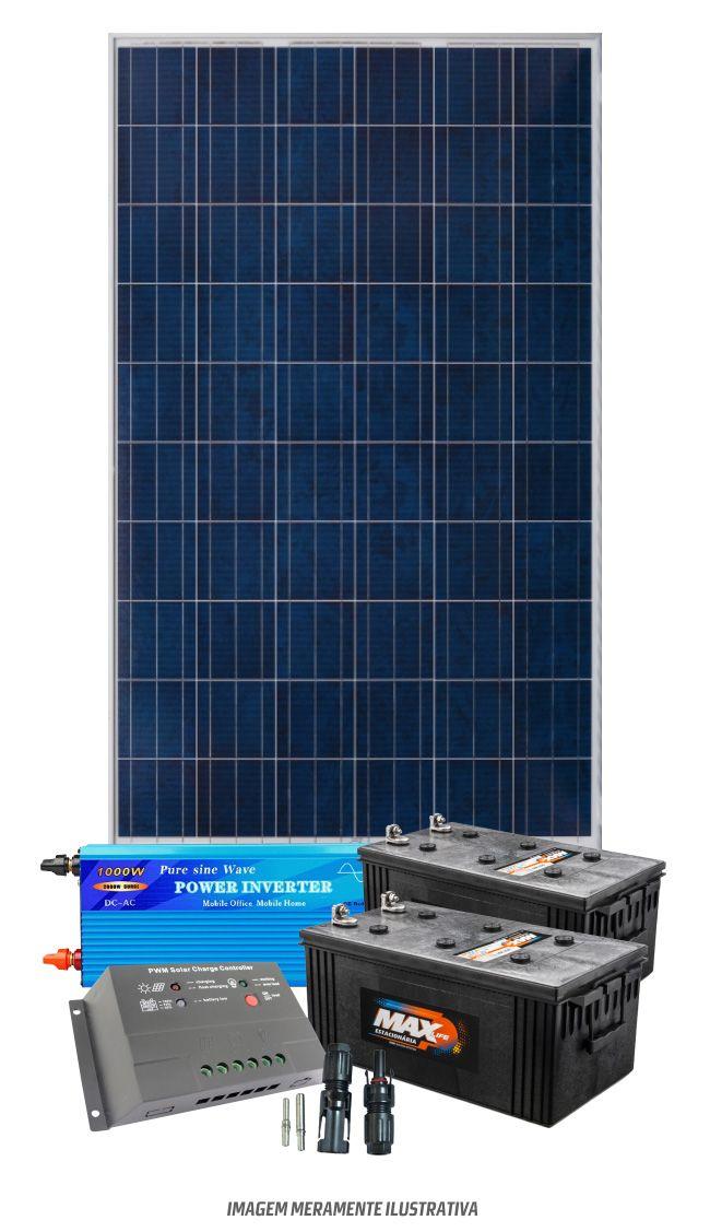 Kit solar 1200w/dia - Senoidal  - Kasatec Energia Solar