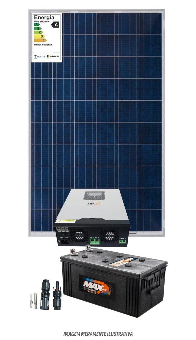 Kit Solar 1400w/dia- inversor carregador Senoidal 1000W 12V/220V - MPPT