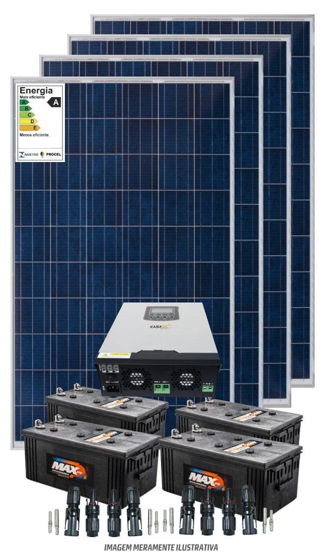 Kit solar 19KW/dia - Inversor Carregador VMIII 5KW 48V/220V - MPPT H