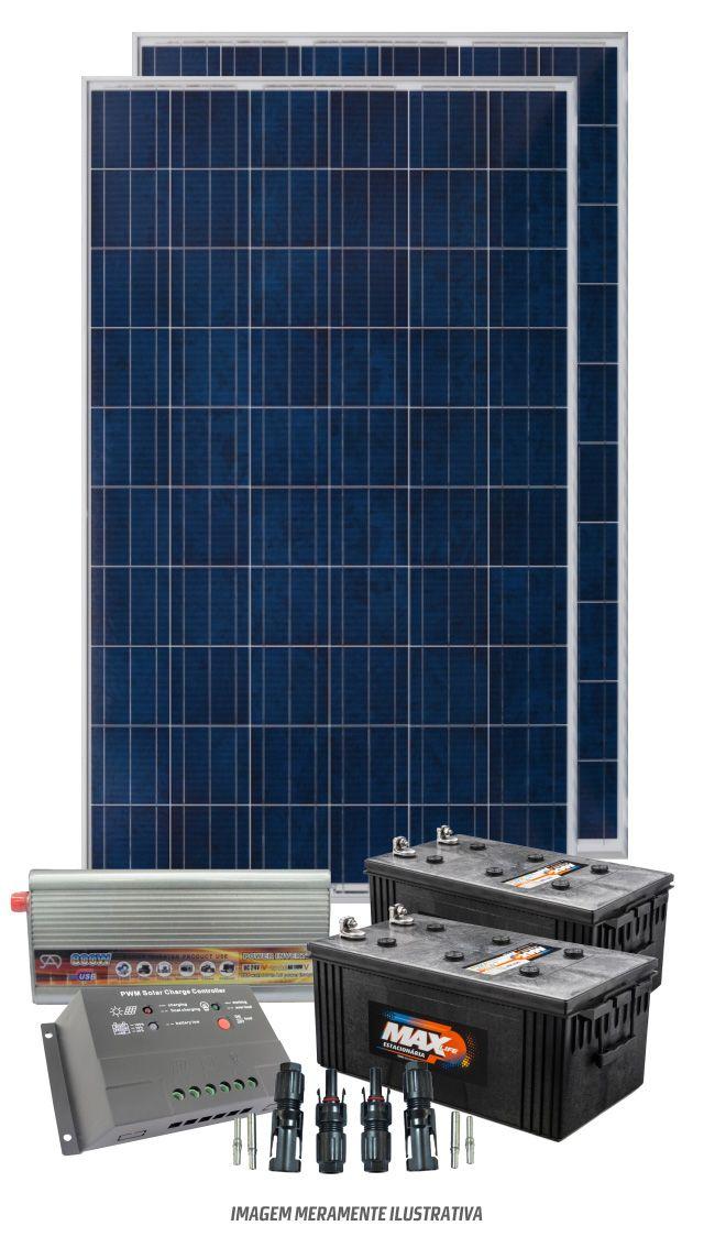 Kit solar 2400w/dia - Onda modificada  - Kasatec Energia Solar