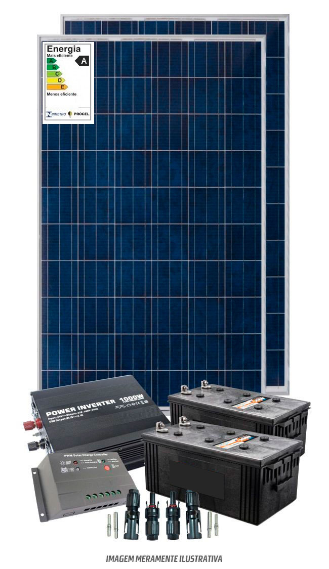 Kit solar 2400w/dia - Onda modificada - PWM