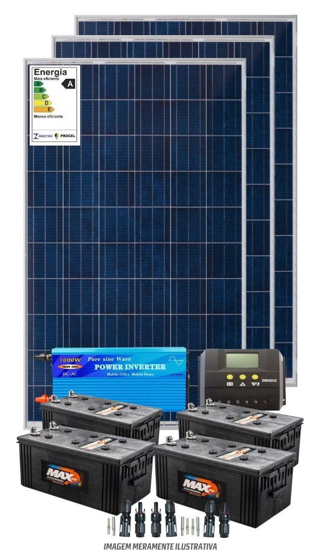 Kit solar 3600w/dia - Onda modificada
