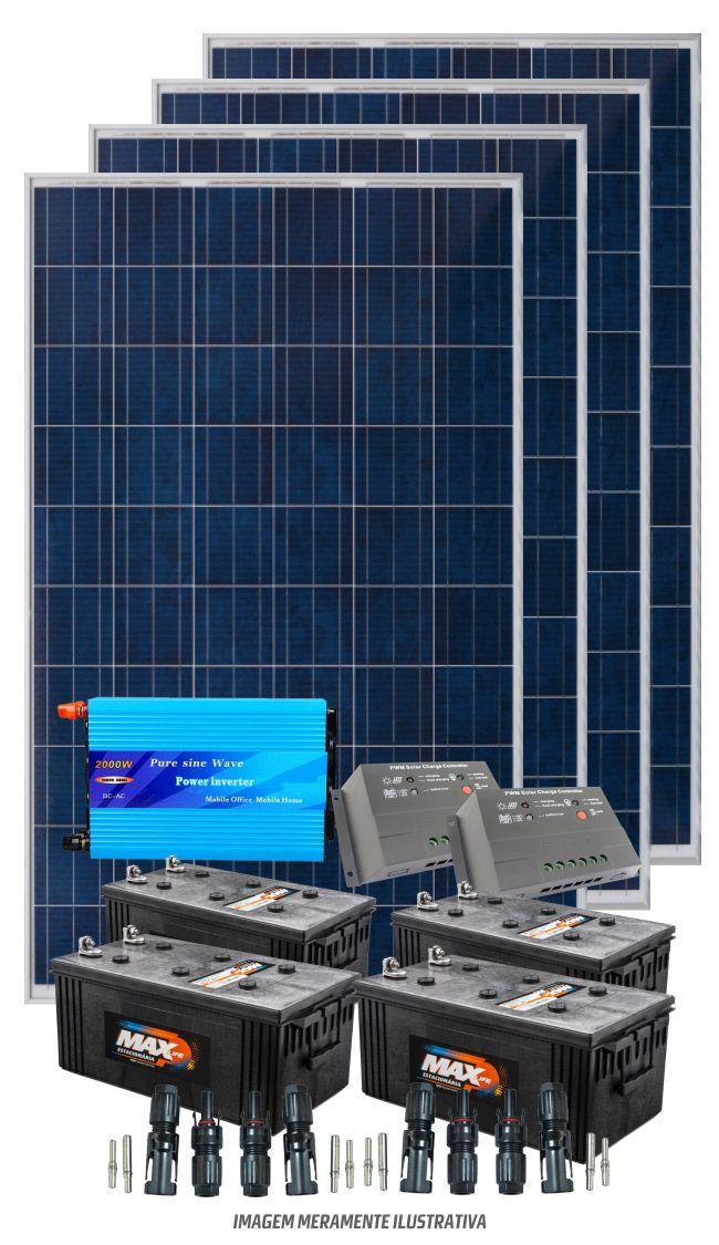 Kit solar 4000w/dia - Senoidal  - Kasatec Energia Solar