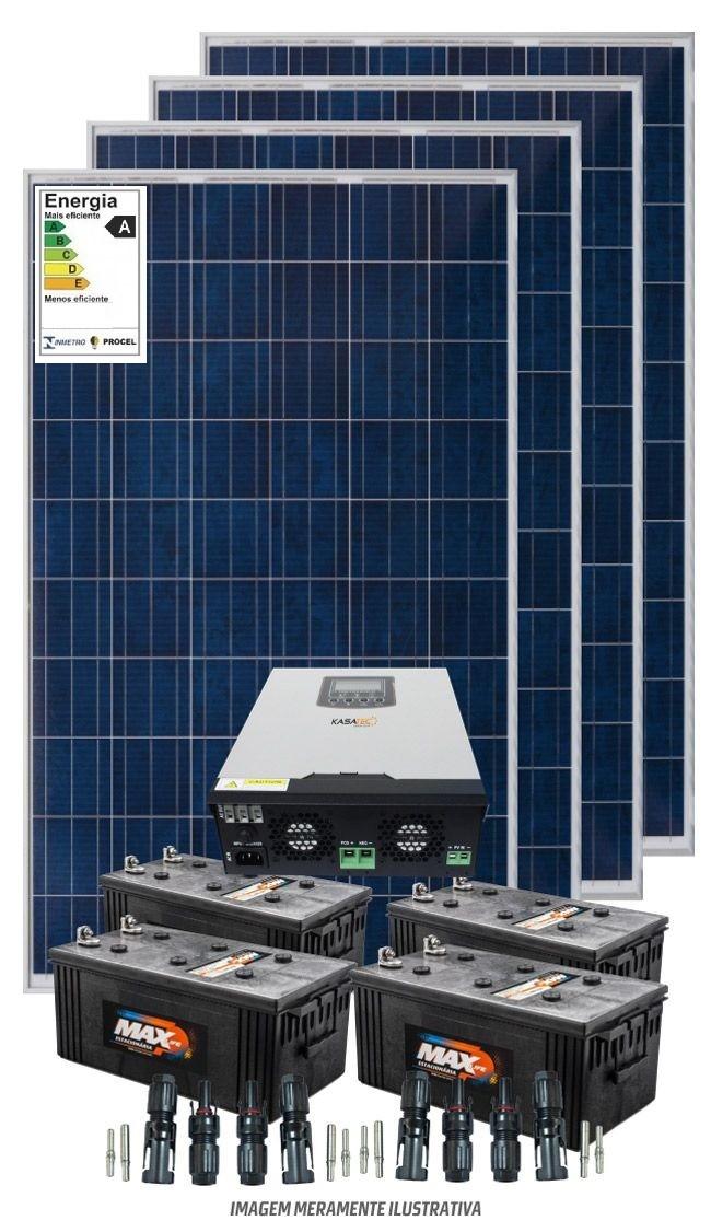 Kit solar 6000w/dia - Inversor Carregador Senoidal 2000W/3000w 24v/220v - PWM