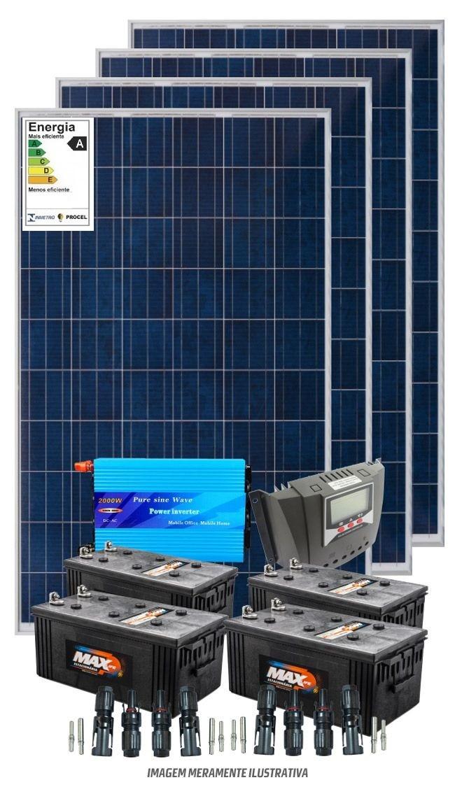 Kit solar 6000w/dia - Inversor Senoidal 3000w/110v