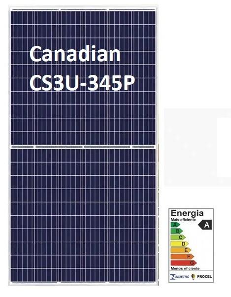 Placa Solar 345w Canadian Solar - CS3U-345P